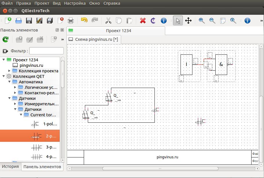 QElectroTech - создание электрических схем.
