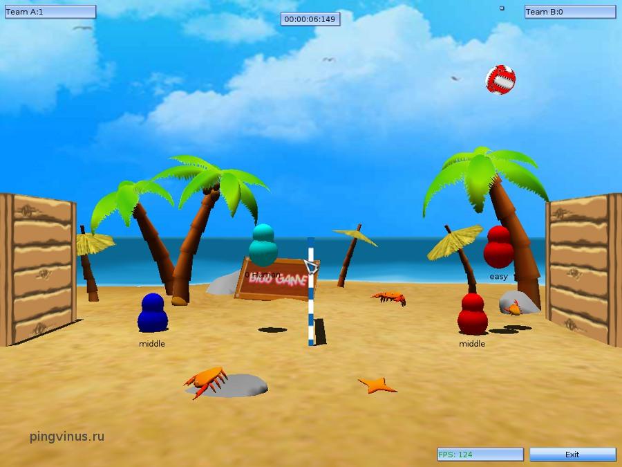 Скачать игру пляжный волейбол download