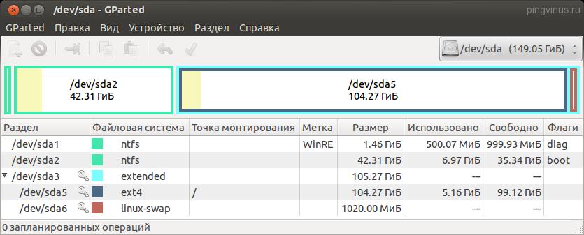 Ubuntu рядом с Windows автоматическая установка