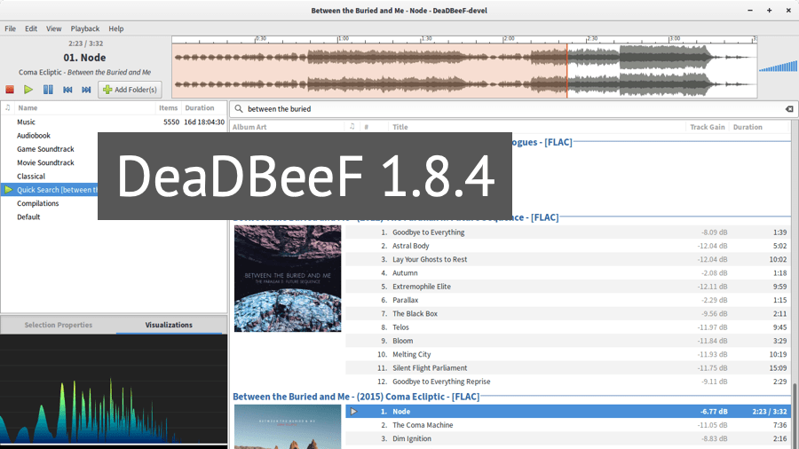 DeaDBeef 1.8.4