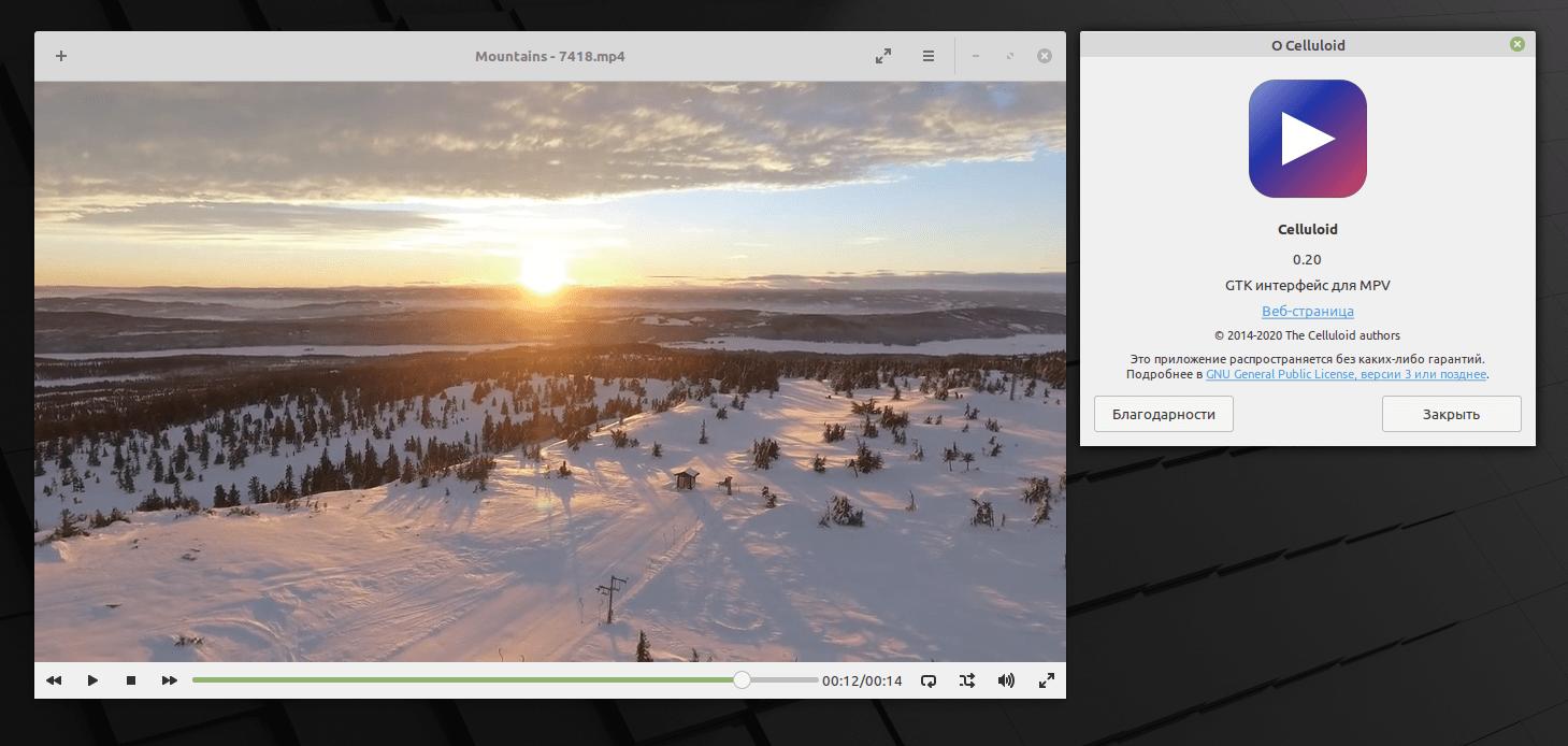 Видео-проигрыватель Celluloid 0.20