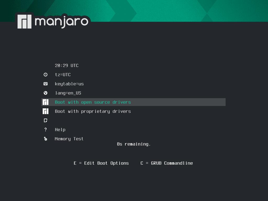 Загрузочное меню ISO образа