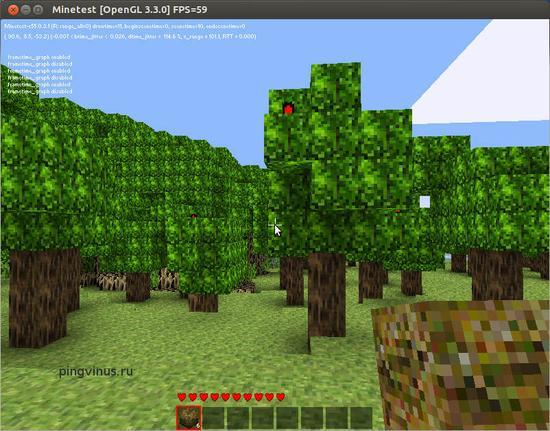 Minetest - бесплатный клон игры Minecraft, скачать бесплатно