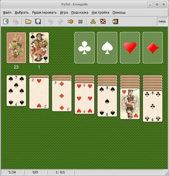 стандартные игры карточные
