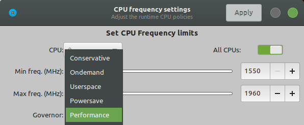 Cpupower-gui
