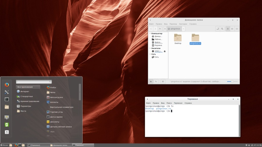 Void Linux x86_64 20181111. Редакция Cinnamon