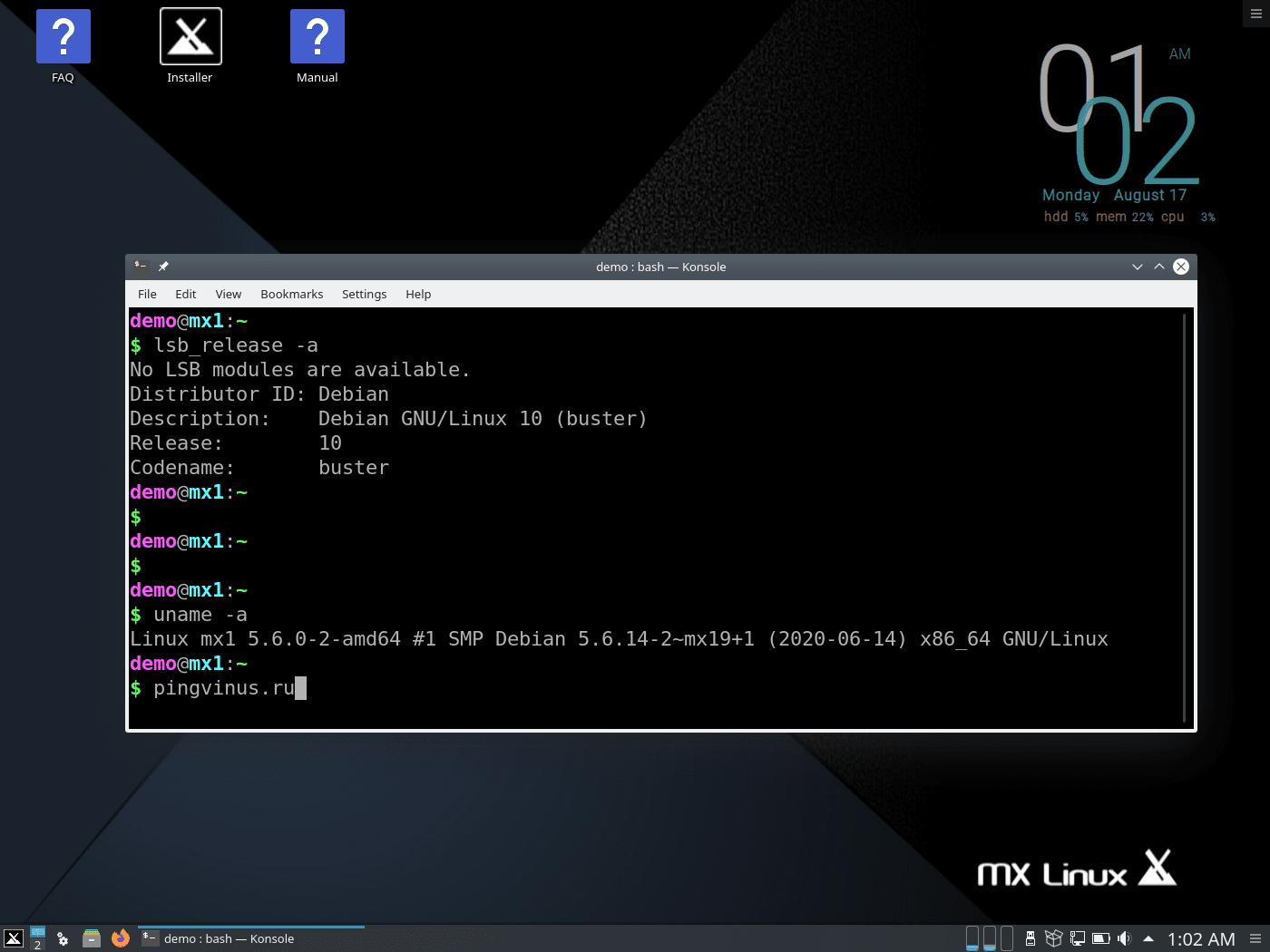 MX Linux 19.2 KDE: Ядро Linux