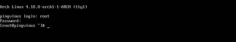 ArchLinux сразу после установки